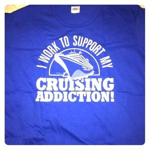 I Work to Support My Cruising Addiction womens xl